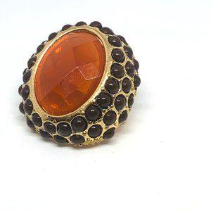 Large Brown Stone Ring